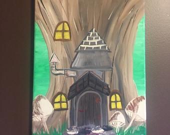 Gnome Home Canvas