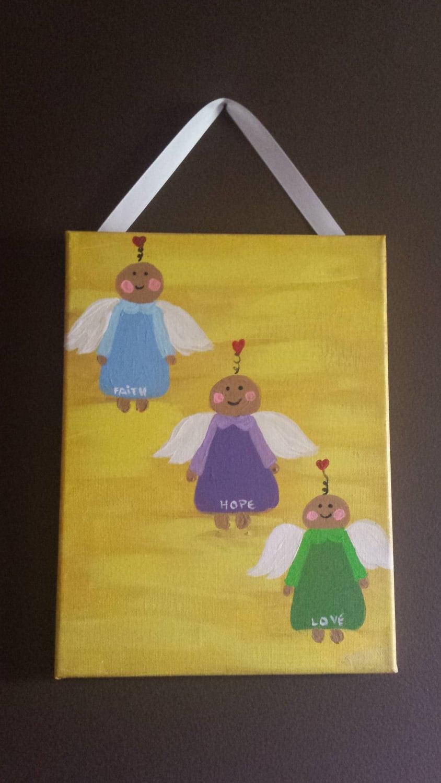 Angels Live Laugh Love canvas   Etsy