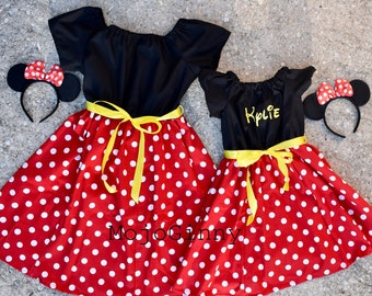 Mother & Kids Halloween Family Matching Dress Christmas Mermaid Princess Cosply Dresses Mum And Me Minnie Mickey Snow White Party Summer Dress