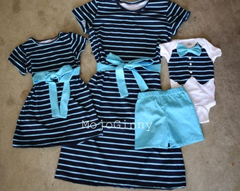32e7d3f5d2e65 Dress jersey stretch mommy and me match long or short sleeves dresses boy girl  match mother daughter father son outfit portrait daddy and me