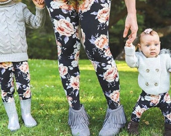 Mommy and Me LEGGINGS in several patterns and all sizes from baby to plus  size women. Perfect Mother s Day Gift. c63875a44