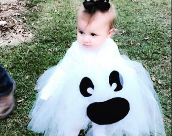 98500bd09 READY to SHIP Ghost Tutu Costume girl baby Halloween dress up babies