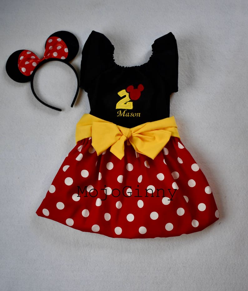 Mommy and Me Dresses Minnie Mickey Mouse women girls baby mickey birthday outfits Disney bound costume family Disney matching outfits
