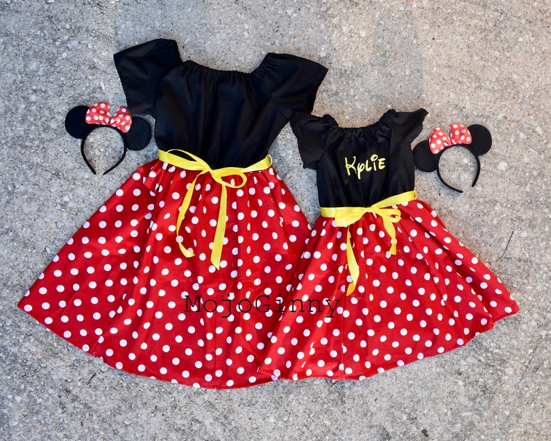 0b9b71e5c Mommy and Me Dresses Minnie Mickey Mouse women girls baby | Etsy