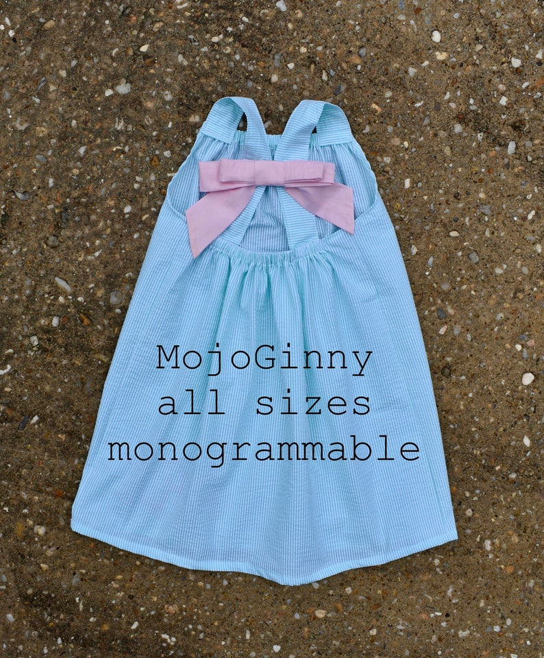 Seersucker Dress for girls and women mommy and me sister dresses plus sizes  matching boy outfits clothing coordinating Easter Summer Beach