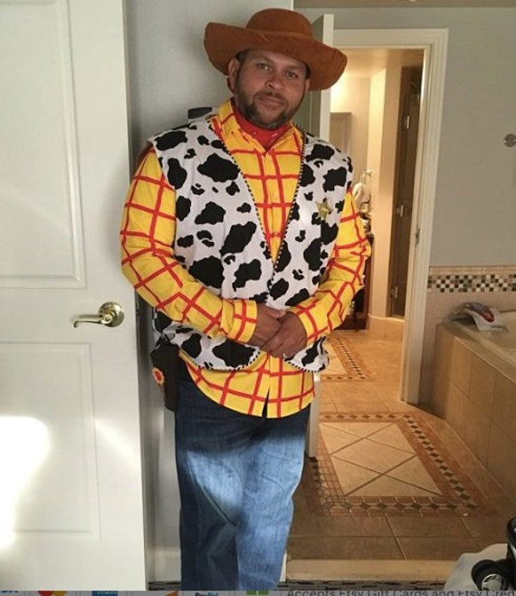 Woody Vest Toy Story costume BOY to men 3XL 4XL 5XL Woodie Disney bound family costume Pair Little Bo Peep Buzz Lightyear Mr Potatoe Head.