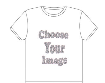 Ready-To-Wear Pre-Made Custom Personalized T-Shirt (Image Not Included)