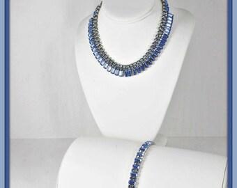 Vintage Weiss Demi-Parure,Vintage Weiss Jewelry Set, Vintage Rhinestone Demi-Parure,Vintage Rhinestone Jewelry Set,Vintage Rhinestone Jewel