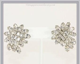 Vintage Kramer Earrings,Vintage Rhinestone Earrings,Vintage Kramer Rhinestone Earrings,Vintage Earrings,Vintage Kramer Jewelry,Rhinestone