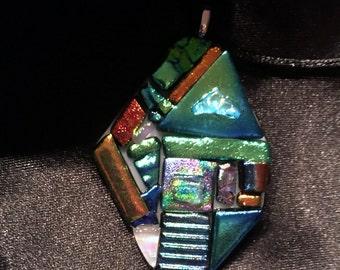 Fused glass pendant p34