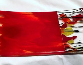 Fused glass bowl B17