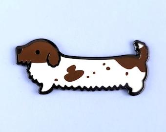 Dachshund enamel pin wiener dog sausage lapel pin brooch badge flair collar pin hat pin cute dog kawaii animals dogs puppy puppies accessory