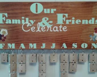 Family and friends calendar