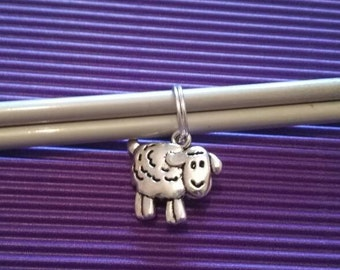 Set of four sheep stitch markers.