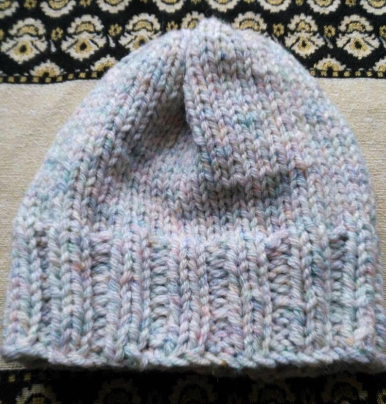 Hand Made Super Chunky Knit Hat In Two By Two Rib And Etsy