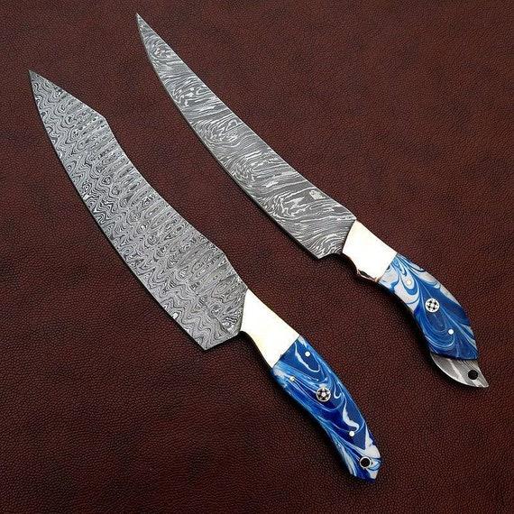 Couteaux à la main en couteau en acier Damas personnalisé avec   Etsy ecb60ee2198
