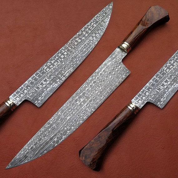 Beautiful hand made DAMASCUS steel kitchen knife