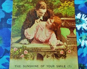"Vintage Bamforth Postcard - ""The Sunshine Of Your Smile (1)"" - No. 4814/1 - WW1 - Unused"
