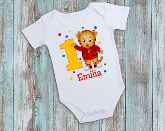 Daniel The Tiger Birthday T Shirt Or Bodysuit 1st And UpFree Personalization