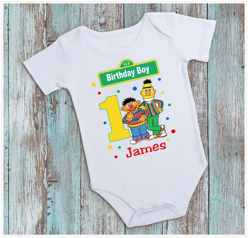 9b36662db Boys Sesame Street Bert and Ernie Birthday | Etsy