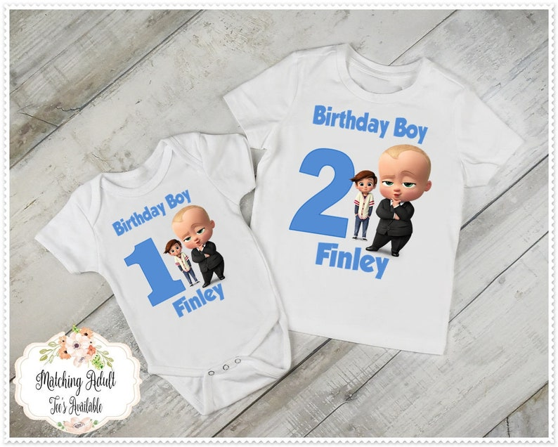 Boys Boss Baby Birthday T Shirt Or Bodysuit 1st And