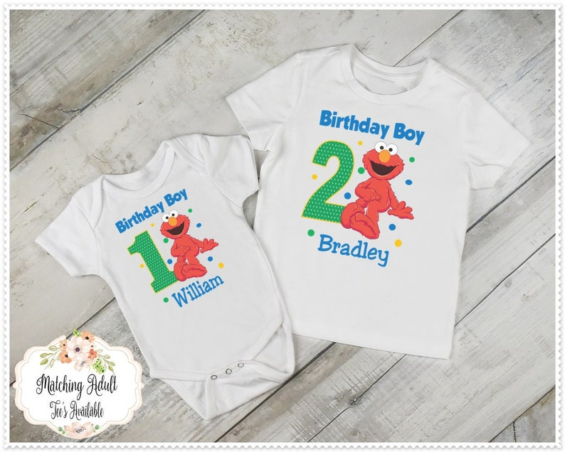 Elmo Birthday T Shirt Or Bodysuit Boys 1st And