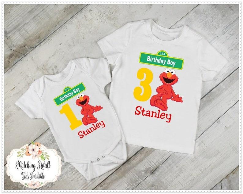 Boys Elmo Birthday T Shirt Or Bodysuit 1st And
