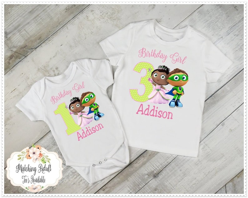 891238c363650 Super Why Princess Presto Birthday T-Shirt/or/Bodysuit/1st Birthday and  Up/FREE Personalization