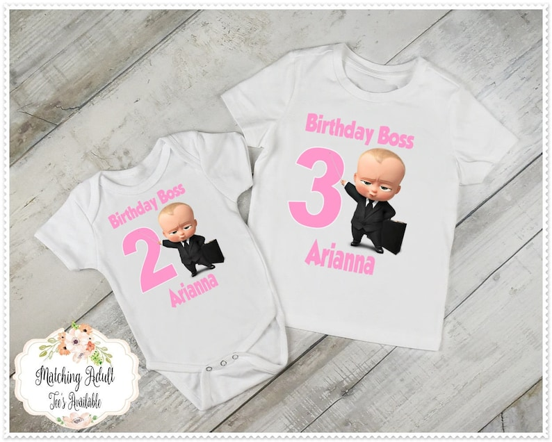 Boss Baby Girls Birthday T Shirt Or