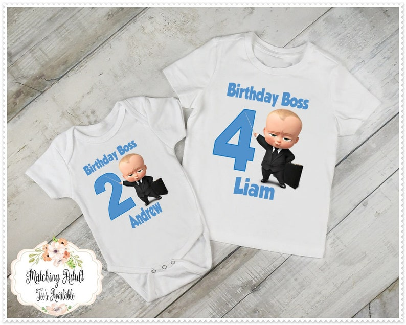 Boss Baby Birthday T Shirt Or Bodysuit FREE Personalization