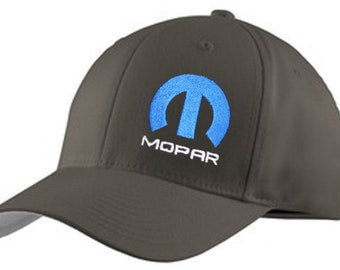 b28c0183d5d Mopar Hat Fitted Flexfit Cap Gray