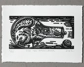 Merry Berry // Mini linocut print