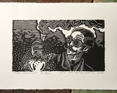 TWO PRINTS LEFT! // The Chemist // Second Edition // Original linocut print