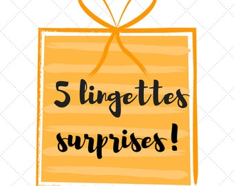 SURPRISES wipes, batch of 5 different pattern wipes, purchase MYR