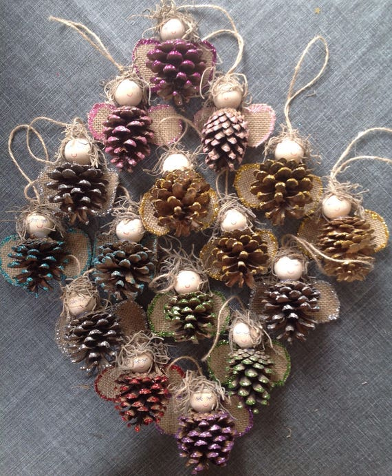 image 0 - Pine Cone Fairies Decorations. Handmade Christmas Fairy Etsy