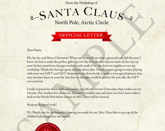 Letter from santa christmas letter santa letter gift idea letter from santa spiritdancerdesigns Images