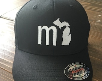 82e58a43893 MI Michigan Baseball Cap - Black