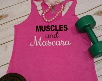 GYM TANK SALE! Muscles and Mascara Workout Tank