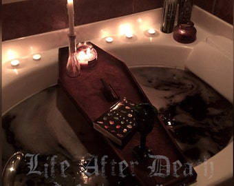 Coffin Bath Tray, Bathtray, Coffin Bathtray, Bath Caddy, Bathtub Tray, Bath Rack, Gothic, Goth, Horror, Coffin, Macabre, Bath Bomb Tray