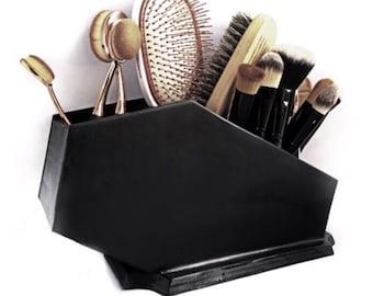 Coffin Brush Holder, Coffin Brush Organizer, Makeup Brush Organizer, Brush Holder, Makeup Brushes, Coffin, Gothic,Makeup,Makeup Organization