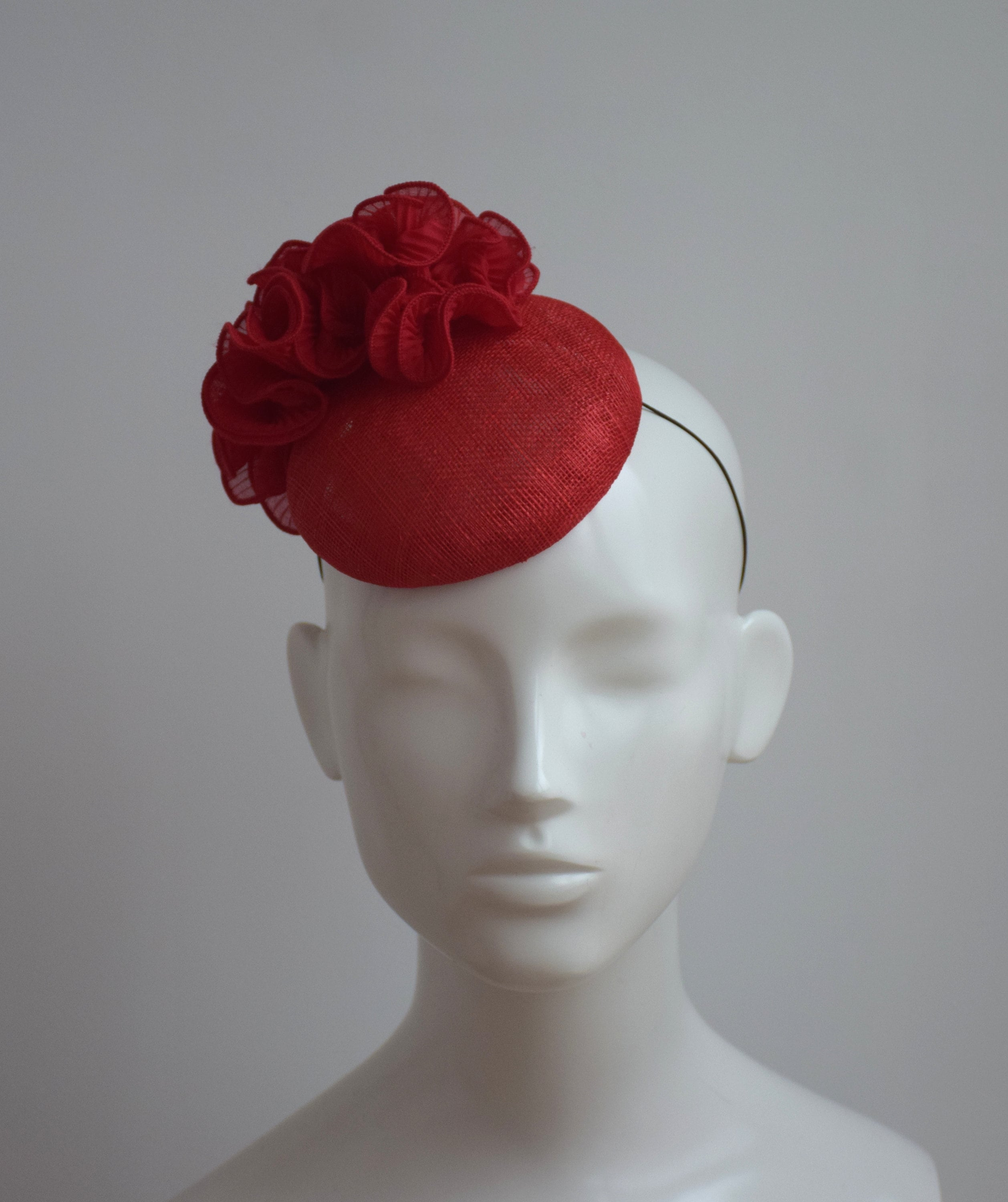 Red Wedding Hat Red Fascinator Red Royal Ascot Hat Red  1ec2784dbbd