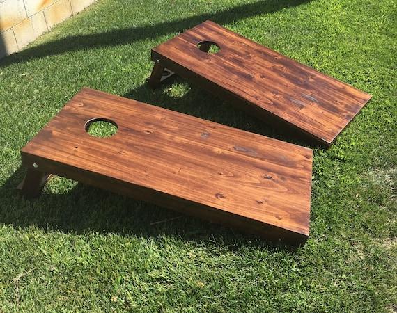 Pleasant Cornhole Bean Bag Toss Game Rustic Handmade Solid Wood 2X4 Frame Evergreenethics Interior Chair Design Evergreenethicsorg