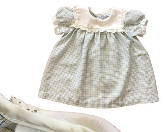 Vintage Plaid Collared Baby Dress
