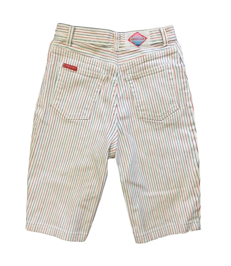1980s Preppy Striped Denim Walking Shorts \u2014 24W