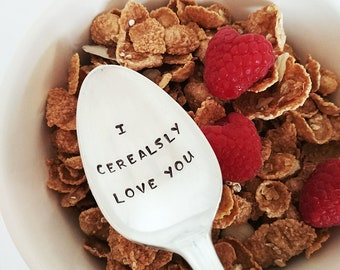 Anniversary Gift | I Cerealsly Love You Spoon | Gift for Husband | Valentine's Day Gift for Boyfriend | Couple's Gift | Gift for Child