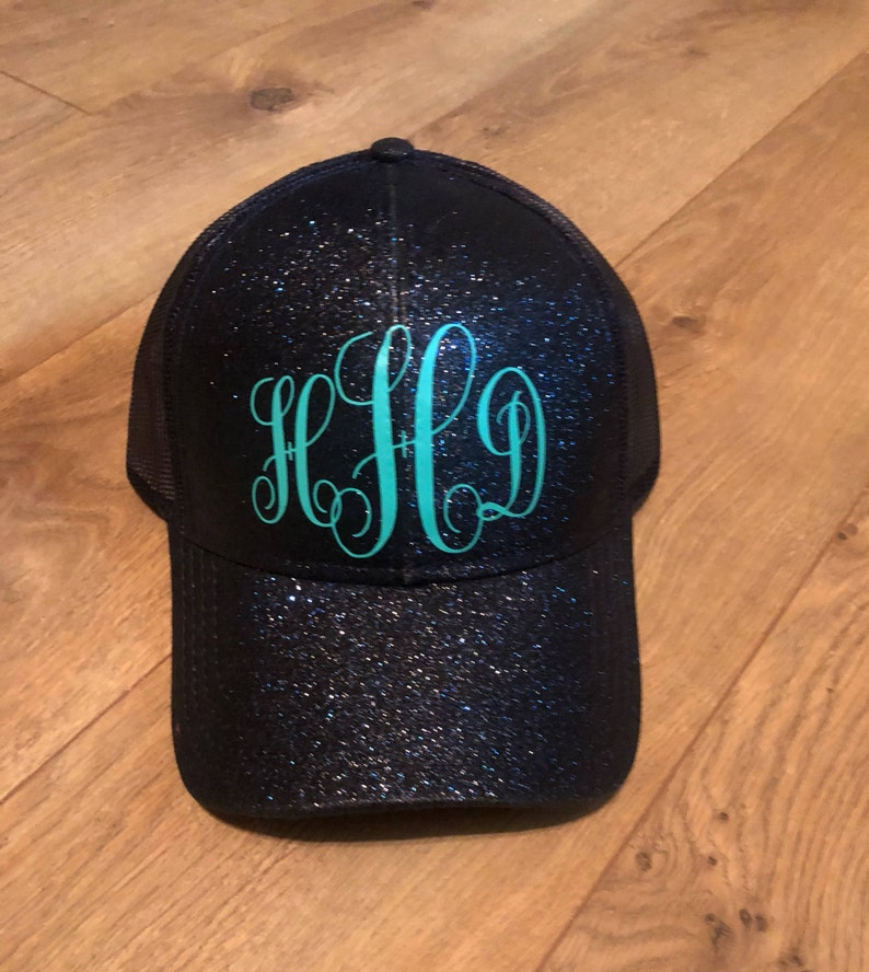 Custom ponytail hat Glitter Ponytail cap Glitter ponytail  0cc8fd6ecf8