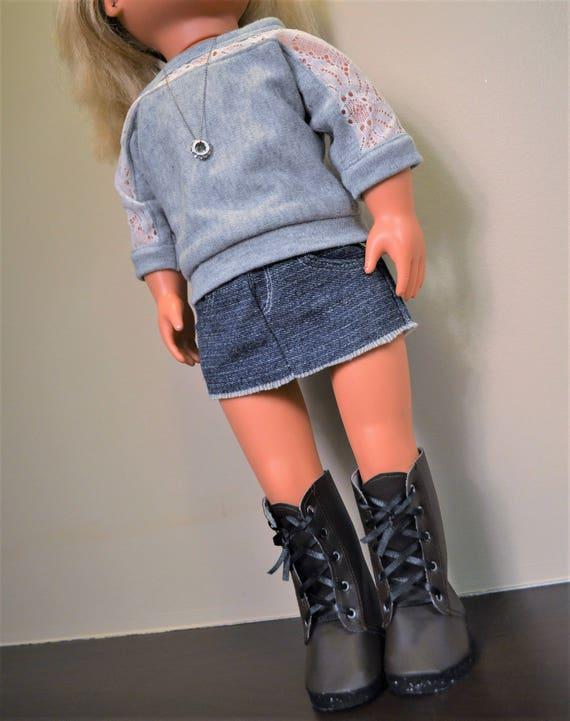 minirock und stiefel