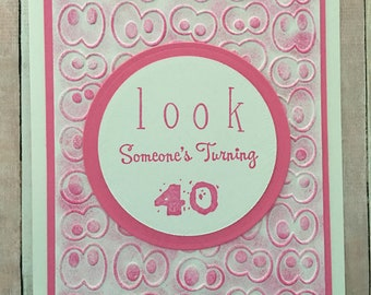 Birthday Card Special Age Custom Google Eyes Embossed Over The Hill