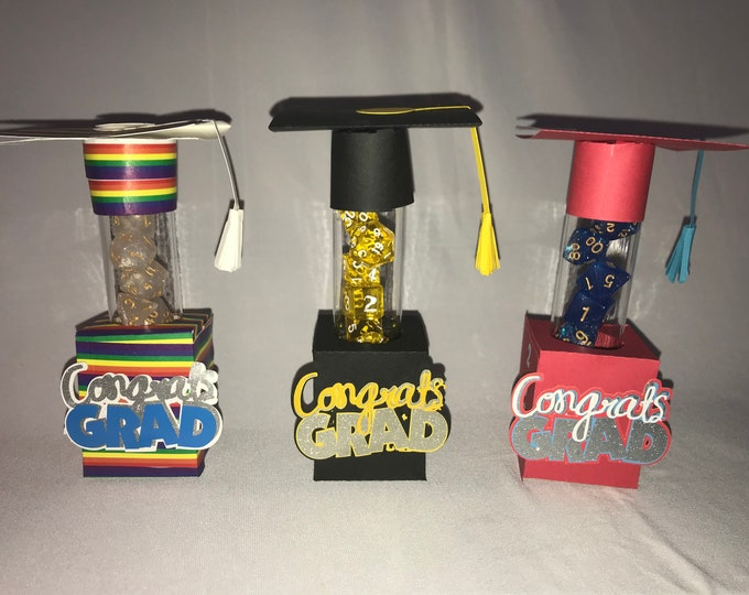 Graduation Dice Tube Card
