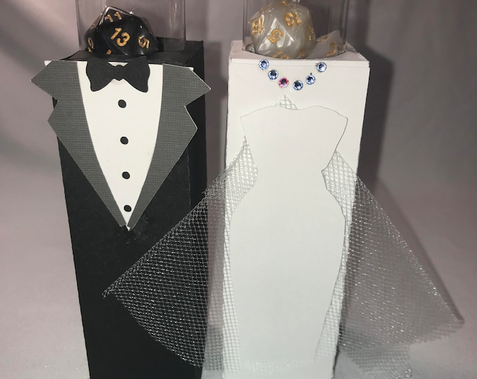 Wedding Couple Dice Box-Cards